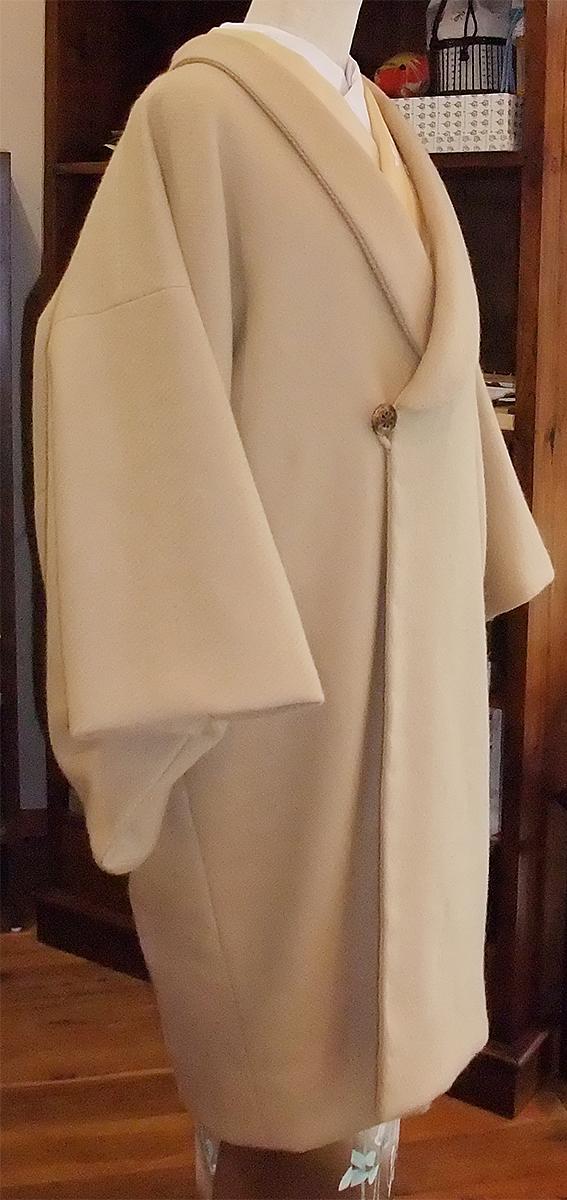 ウールアンゴラ混コート