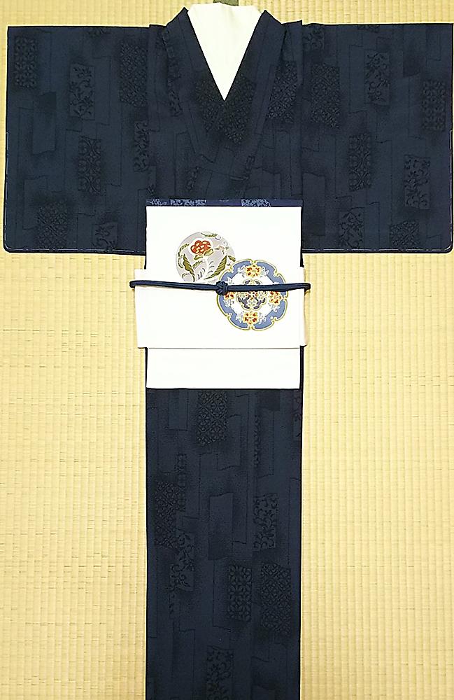 着物+帯(二部式作り帯)