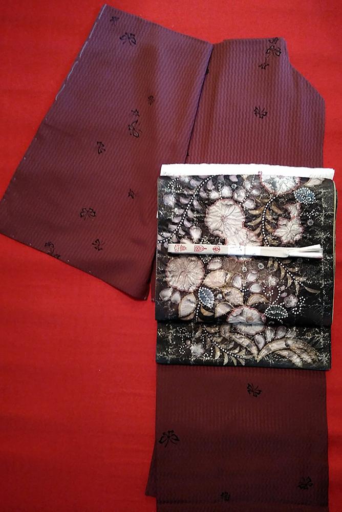 小紋+袋帯